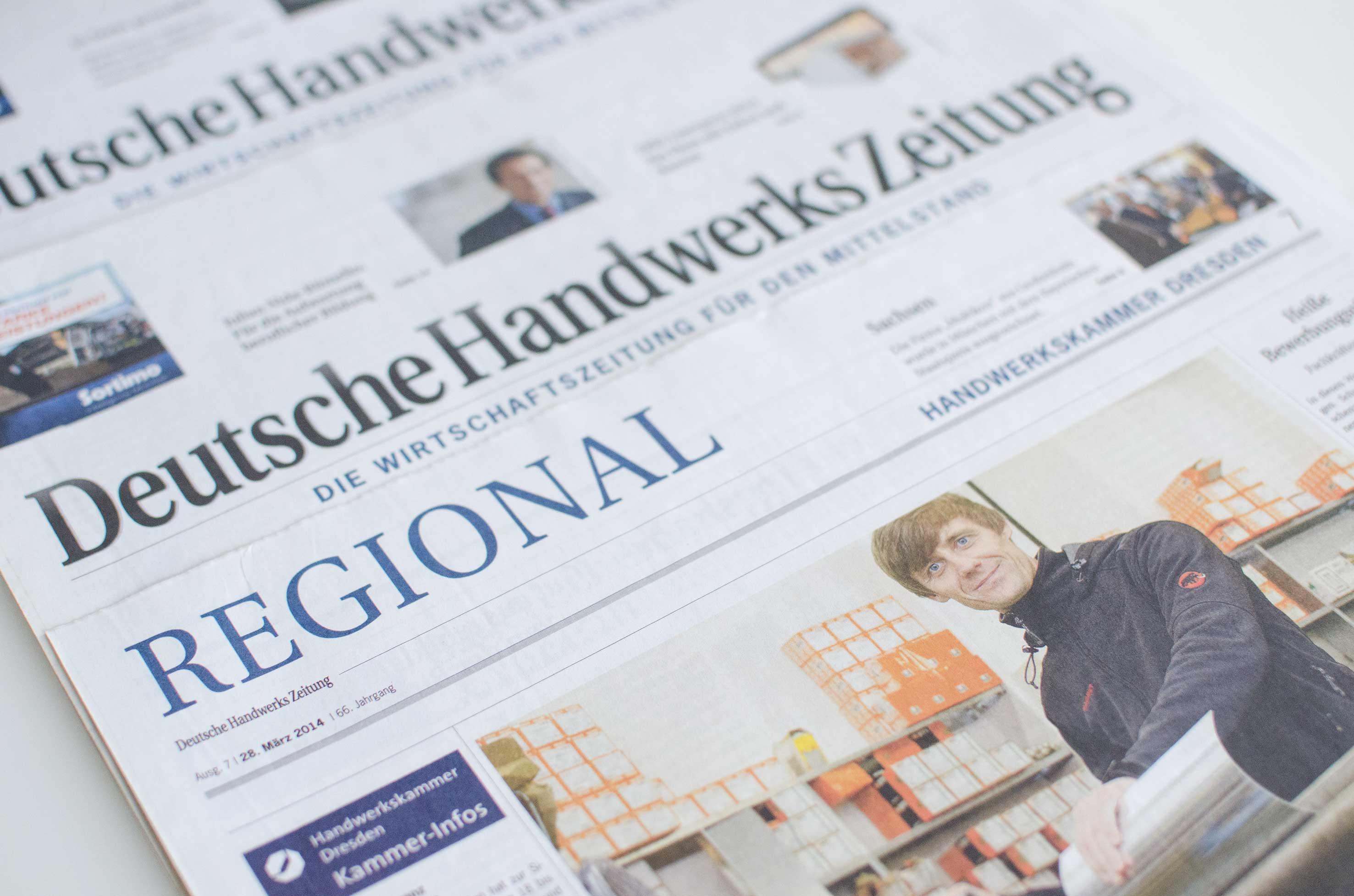 Text und Fotografie der Werbeagentur Haas Dresden: Aufträge für die DHZ