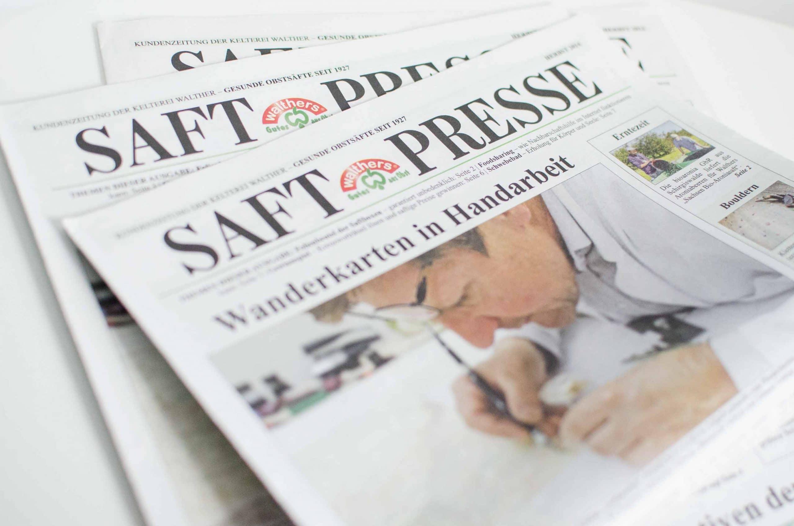 Text, Gestaltung, Fotografie, Produktion - Kundenzeitung der Kelterei Walther