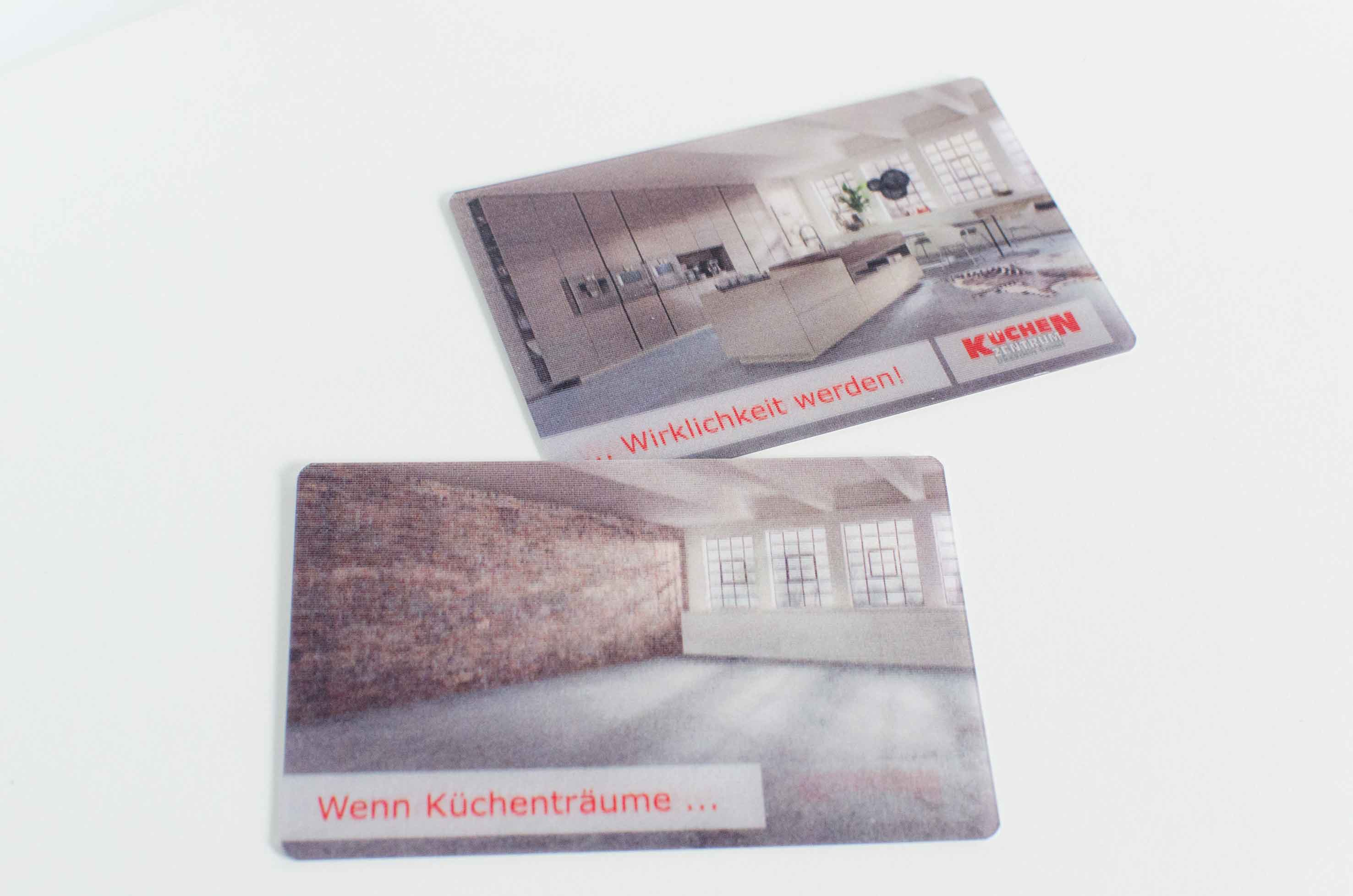 Visitenkarten, 3D, Wackelbild, Werbung, Dresden