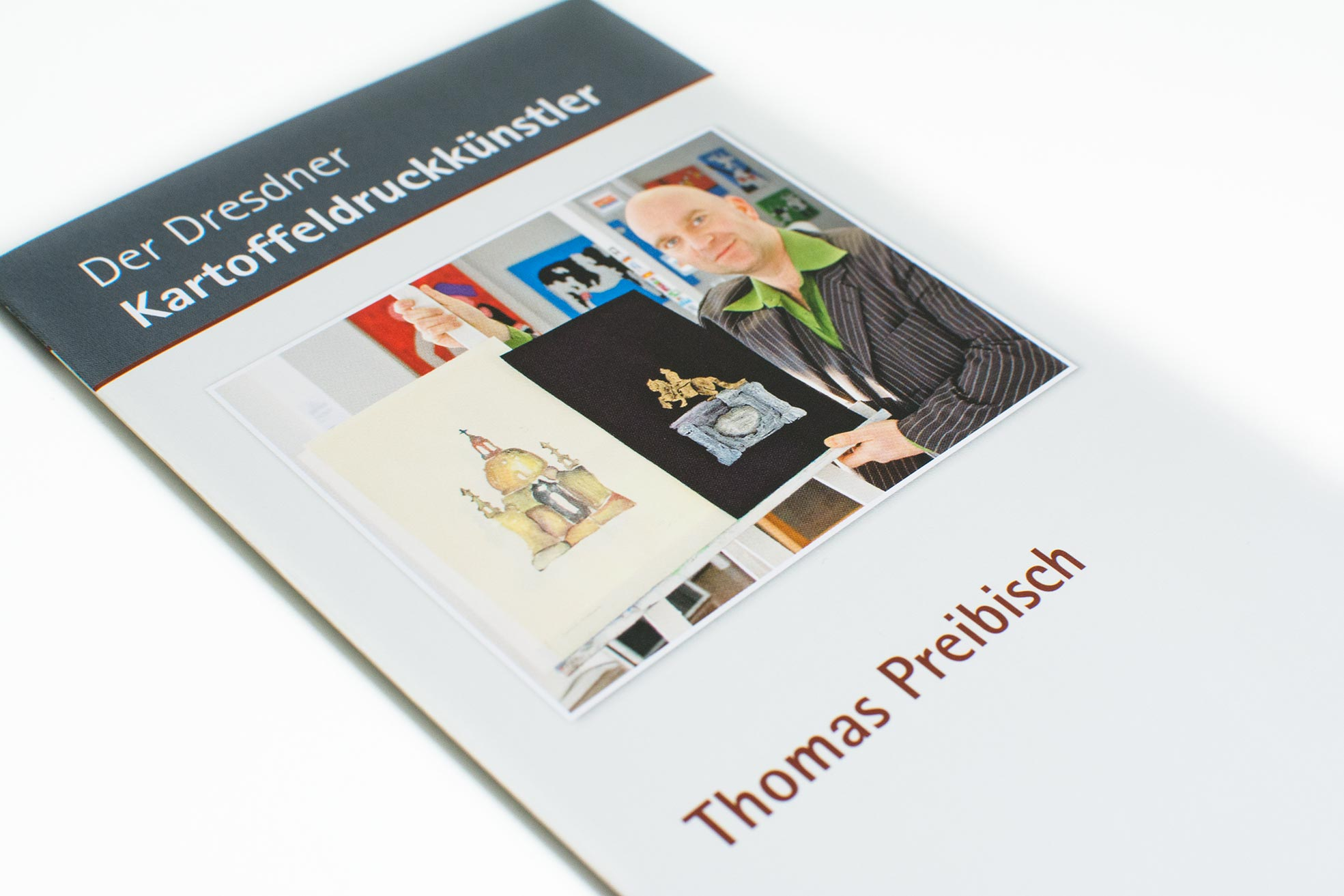 Flyer, Dresden, Werbung, Kartoffeldruckkünstler