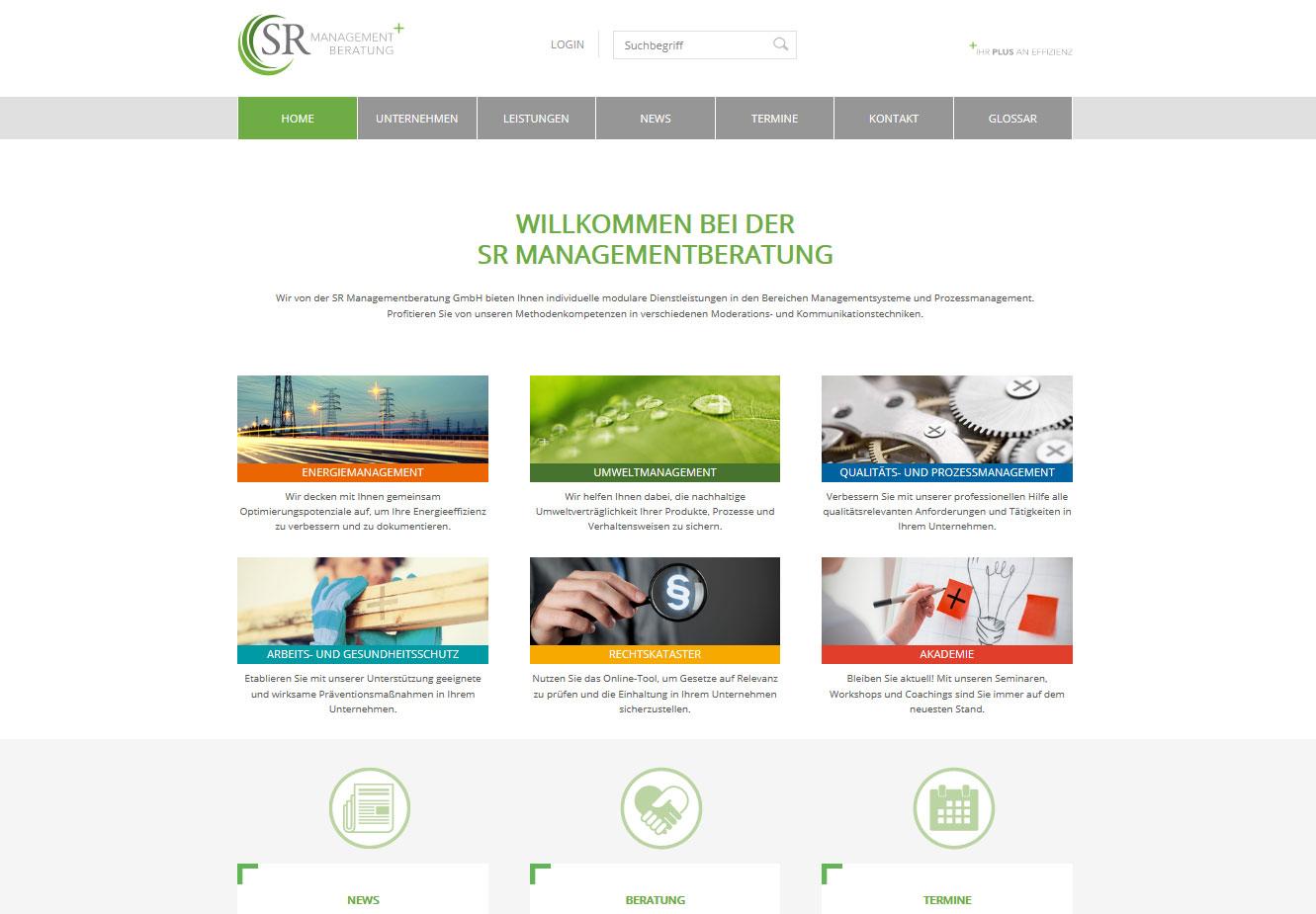 Webseiten-Erstellung Werbeagentur Haas Dresden: SRMB